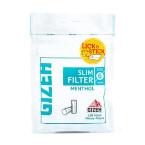 Filtre GIZEH 6mm Slim Menthol (120)