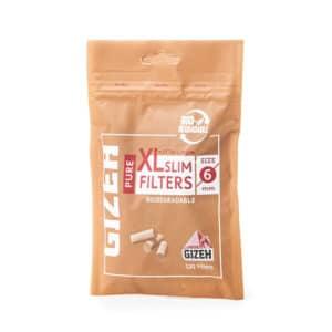 Filtre GIZEH 6mm Biodegradabile Pure Slim Long XL (120)