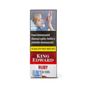 Tigari de foi KING EDWARD Wood Tips Ruby(5)