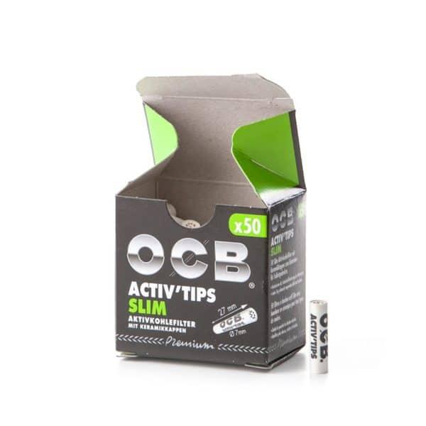 Filtre Ceramica & Carbon OCB Activ Tips (50)