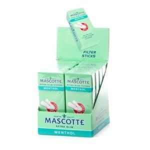 Filtre MASCOTTE 5.3mm Extra Slim Menthol Pre-Cut (126)