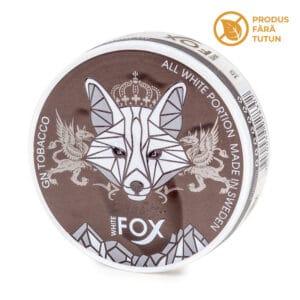 Nicotine pouch WHITE FOX Black Edition